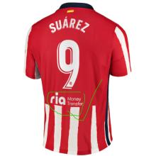 SUAREZ #9 Atletico 1:1 Home Fans Soccer Jersey 2020/21有背后广告