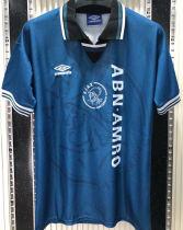 1995/96 Ajax Away Blue Retro Soccer Jersey