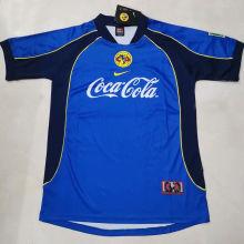 2001/02 Club America Away Blue Retro Soccer Jersey