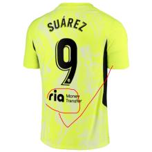 SUAREZ #9 ATM Third Yellow Fans Soccer Jersey 2020/21有背后广告