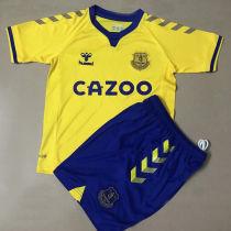 2020/21 Everton Away Yellow Kids Soccer Jersey