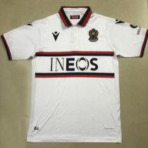 2020/21 Nice Away White Fans Soccer Jersey