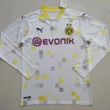 2020/21 BVB Away White Long Sleeve Soccer Jersey