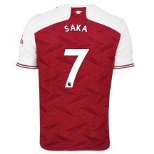 SAKA #7 ARS 1:1 Home Fans Soccer Jersey 2020/21(League Font)