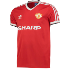 1984 M Utd Home Red Retro Soccer Jersey