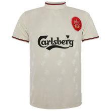 1996-97 LIV Away White Retro Soccer Jersey