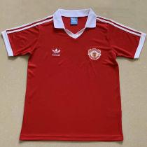 1980 M Utd Home Red Retro Soccer Jersey