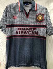 1996 M Utd Away Black Retro Soccer Jersey
