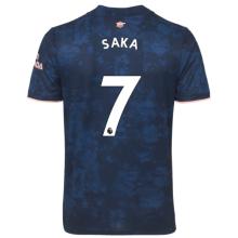 SAKA #7 ARS 1:1 Quality Third Blue Fans Soccer Jersey 2020/21(League Font)