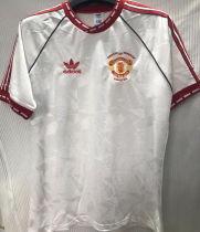 1991 M Utd Away White Retro Soccer Jersey