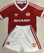 1984 M Utd Home Retro Kids Soccer Jersey