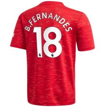 B.FERNANDES #18 M Utd 1:1 Home Fans Soccer Jersey 2020/21(League Font)
