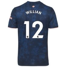 WILLIAN #12 ARS 1:1 Quality Third Blue Fans Soccer Jersey 2020/21(League Font)