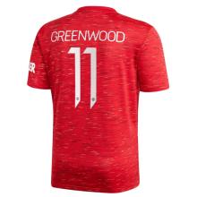 GREEN WOOD #11 M Utd 1:1 Home Fans Soccer Jersey 2020/21(UCL Font 欧冠字体)