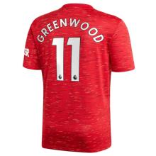 GREEN WOOD #11 M Utd 1:1 Home Fans Soccer Jersey 2020/21(League Font联赛字体)