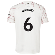 GABRIEL #6 ARS 1:1 Away White Fans Soccer Jersey 2020/21(League Font)