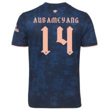 AUBAMEYANG #14 ARS 1:1 Quality Third Blue Fans Soccer Jersey 2020/21(UEFA Font 欧冠字体)