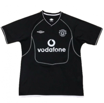 2002 M Utd Black GK Retro Soccer Jersey