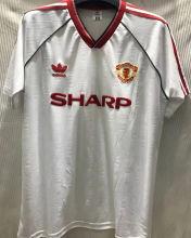 1988-1990 M Utd Away White Retro Soccer Jersey