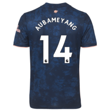 AUBAMEYANG #14 ARS 1:1 Quality Third Blue Fans Soccer Jersey 2020/21(League Font)