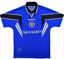 1996-1998 M Utd Away Blue Retro Soccer Jersey