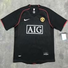 2007-08 M Utd Away Black Retro Soccer Jersey