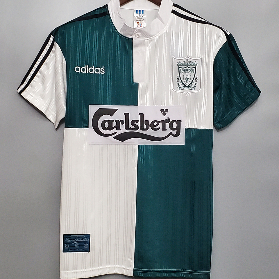 1994-1996 LIV Away Green And White Retro Soccer Jersey
