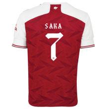 SAKA #7 ARS 1:1 Home Fans Soccer Jersey 2020/21(UEFA Font 欧冠字体)