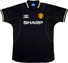 1998-1999 M Utd Away Black Retro Soccer Jersey