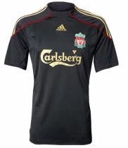 2009/10 LIV  Away Black Retro Soccer Jersey