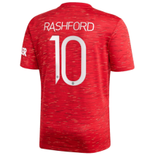 RASHFORD #10 M Utd 1:1 Home Fans Soccer Jersey 2020/21(UCL Font 欧冠字体)