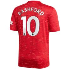 RASHFORD #10 M Utd 1:1 Home Fans Soccer Jersey 2020/21(League Font)