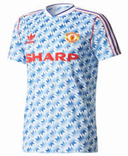 1990-1992 M Utd Away Retro Soccer Jersey