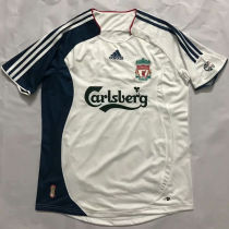 2006/07 LIV Away White And Black Retro Soccer Jersey