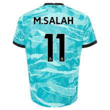 M.SALAH #11 LIV 1:1 Away Blue Fans Soccer Jerseys 2020/21(League Font)