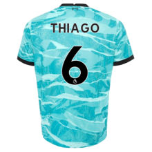 THIAGO #6LIV 1:1 Away Blue Fans Soccer Jerseys 2020/21(League Font)