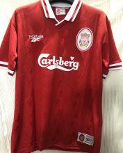 1996-97 LIV Home Red Retro Soccer Jersey
