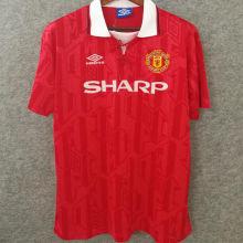 1994 M Utd Home Red Retro Soccer Jersey