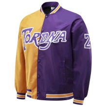2021 Lakers Hip-Hop Style Purple Gold Wind Jakcet