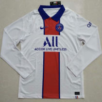 2020/21 PSG Away White Long Sleeve Soccer Jersey