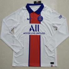 2020/21 PSG Away White Long Sleeve Soccer Jersey