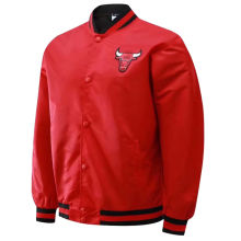 2021 Bulls Hip-Hop Style Red Wind Jakcet
