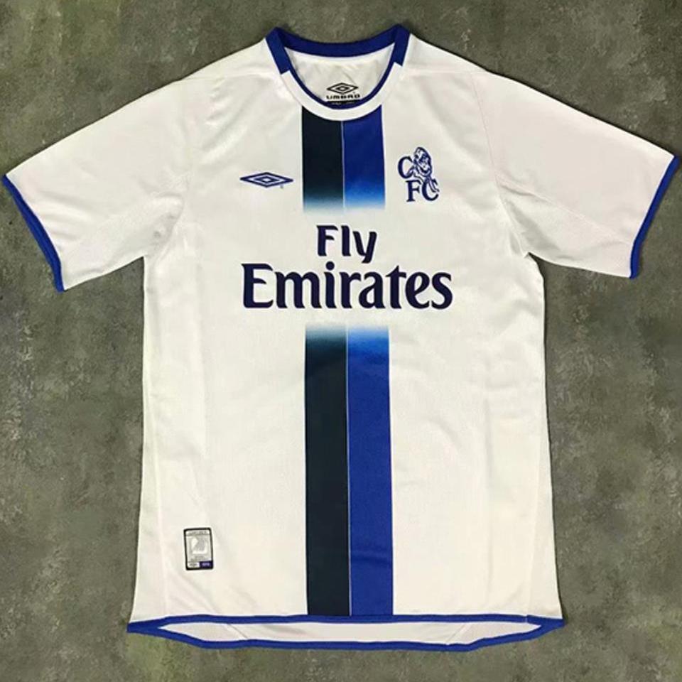 2003-2005 CFC Away White Retro Soccer Jersey