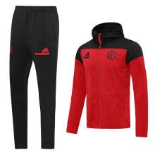 2020/21 M Utd Red Hoody Zipper Jacket Tracksuit