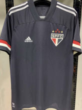 2020/21 Sao Paulo 1:1 Black Fans Soccer Jersey