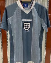 1996 England Away Grey Retro Soccer Jersey