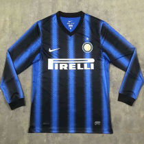 2010-2011 In Milan Home Long Sleeve Retro Soccer Jersey