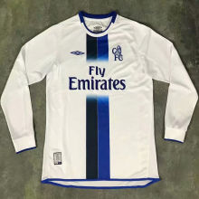 2003-2005 CFC Away White White Long Sleeve Retro Soccer Jersey