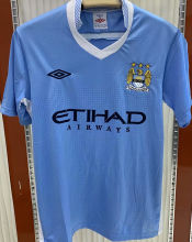 2011/12 Man City Home Blue Retro Soccer Jersey