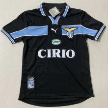 1998/2000 Lazio Away Black Retro Soccer Jersey
